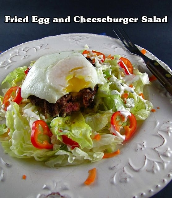 fried egg and cheeseburger salad | Miss in the Kitchen