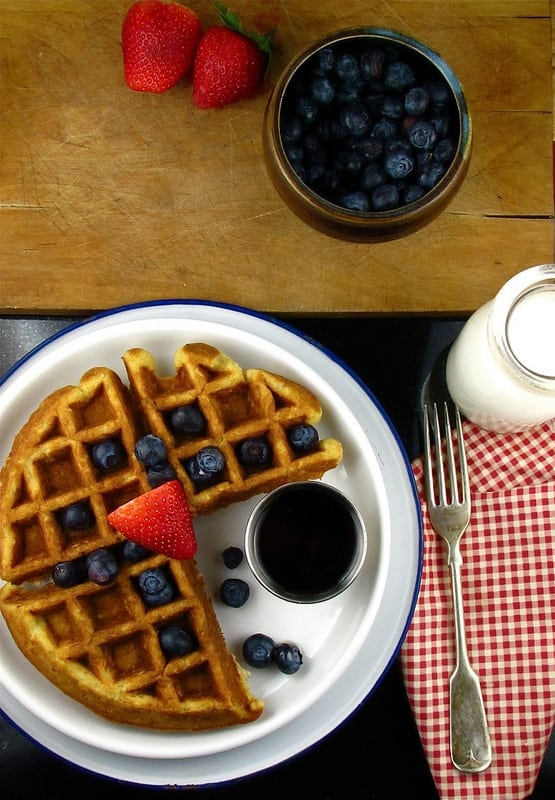 buttermilk-oat waffles | Miss in the Kitchen