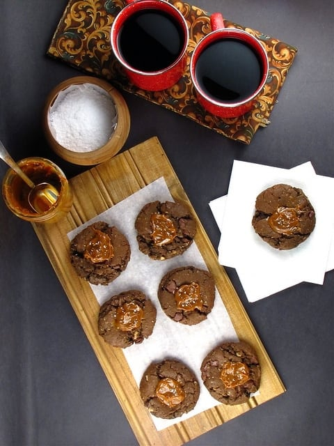 Cowgirl Cookies: Salted Caramel Chocolate Oatmeal Cookies with Milk Chocolate Chunks   Miss in the Kitchen