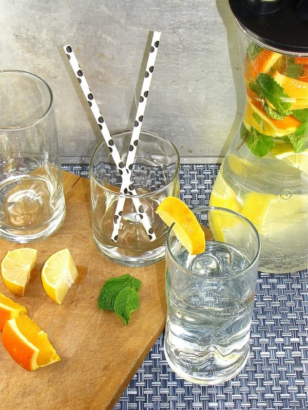 Staying Hydrated with Citrus-Mint Water from www.missinthekitchen.com
