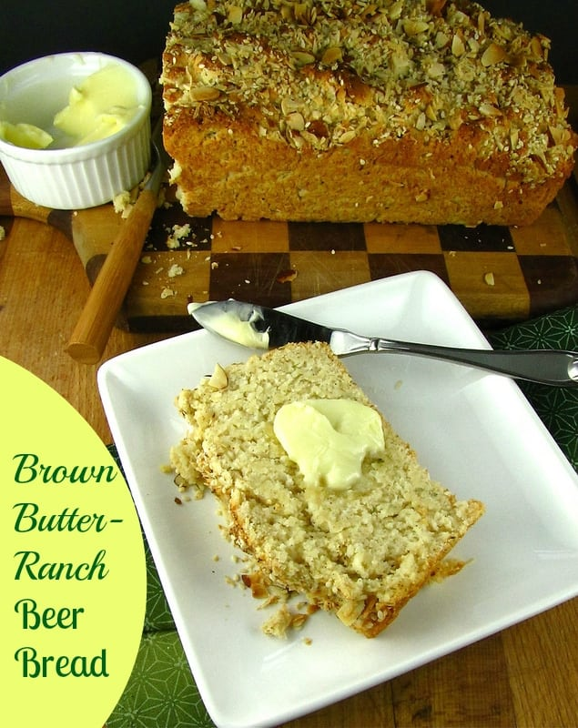 Brown Butter Ranch Beer Bread - Miss in the Kitchen