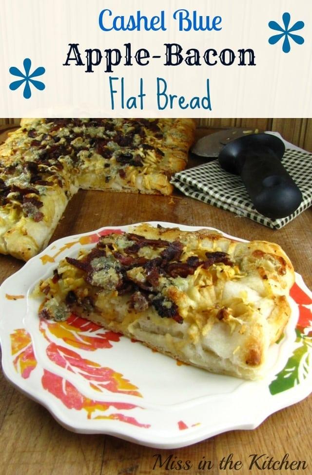 Cashel Blue Apple-Bacon Flat Bread - Miss in the Kitchen