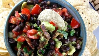 Bacon-Black Bean & Avocado Salsa & A Petit Jean Meats Father's Day Giveaway