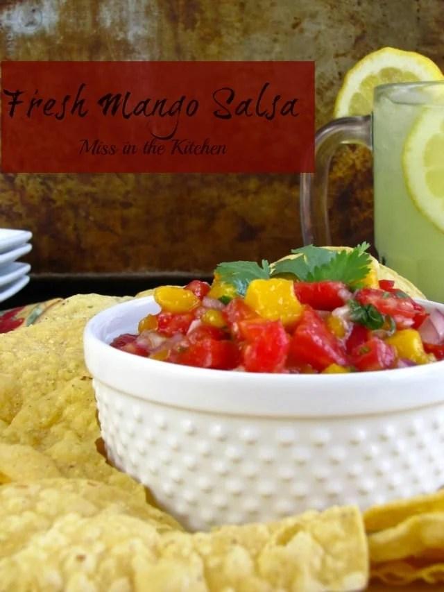 Miss in the Kitchen #mango #salsa #summer