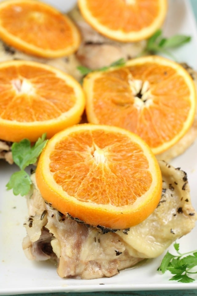 Savory Citrus Chicken Recipe is the perfect weeknight dinner! From MissintheKitchen.com