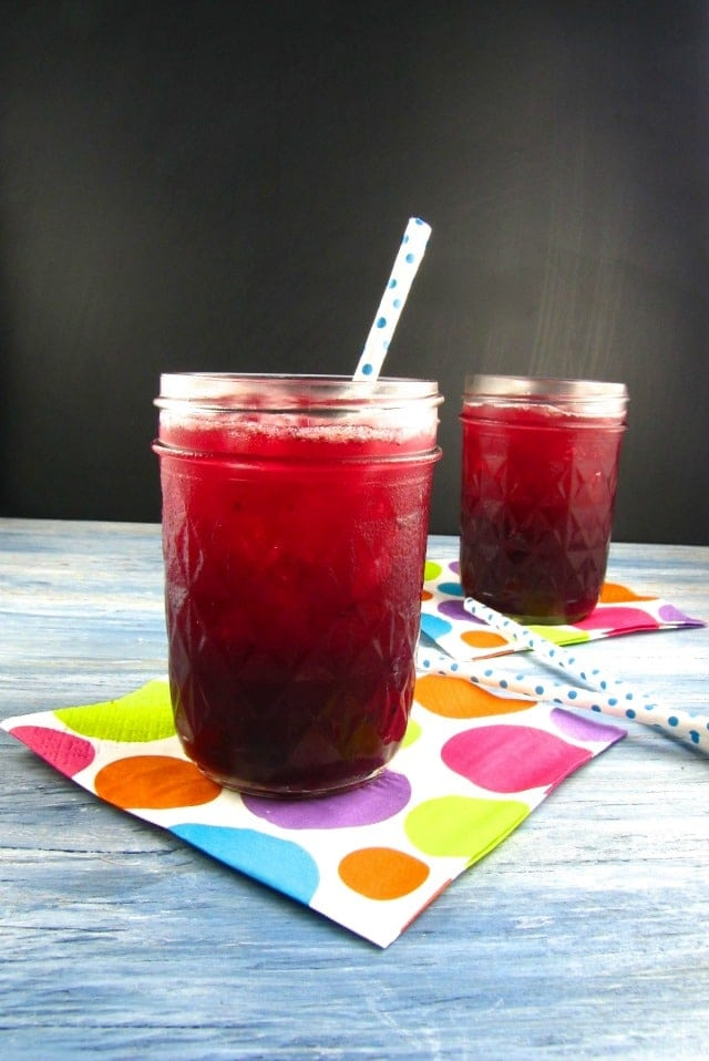 Blueberry Limeade - Miss in the Kitchen