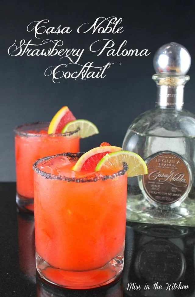 Strawberry Paloma Cocktail Recipe from Miss in the Kitchen