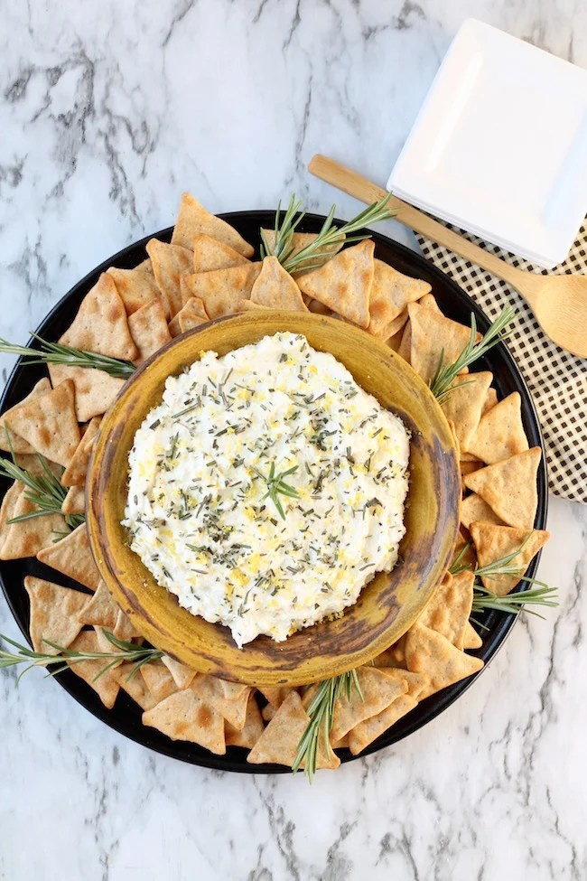 Whipped Feta Spread served with pita chips