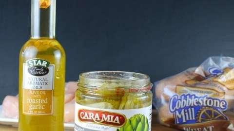 Garlic Chicken & Artichoke Sub Sandwiches