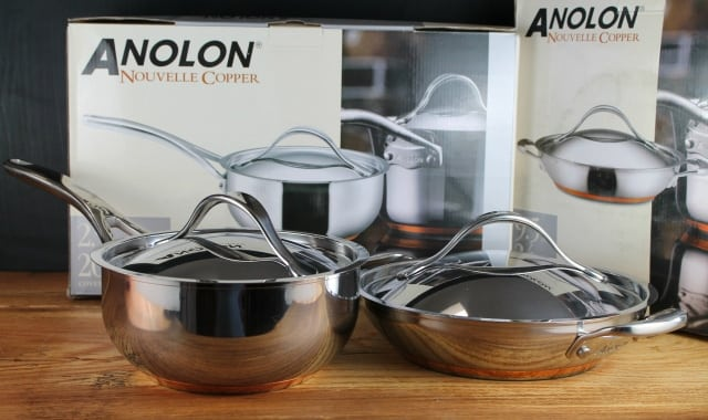 anolon nouvelle copper stainless steel