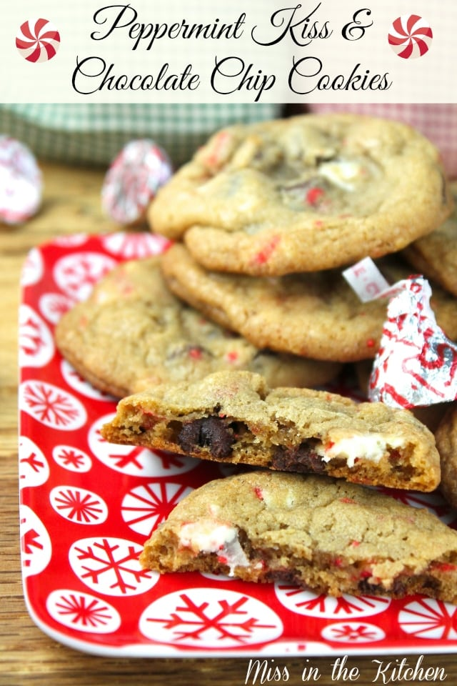 Peppermint Kiss & Chocolate Chip Cookies from Miss in the Kitchen