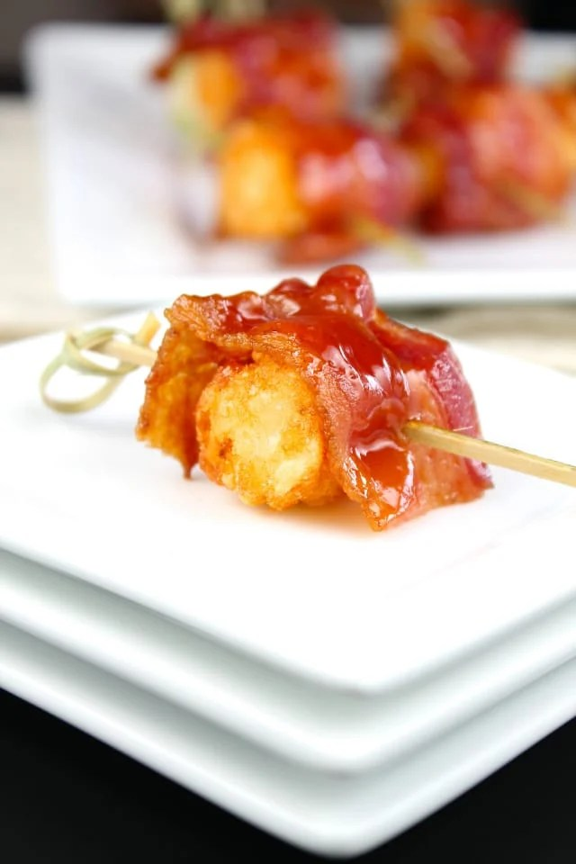 Barbecue Bacon Wrapped Tater Tot