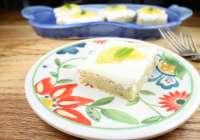 Meyer Lemon Poppy Seed Bars with Cream Cheese Icing