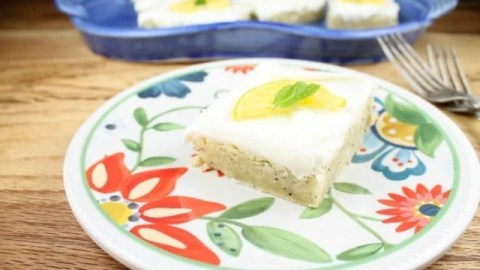 Meyer Lemon Poppy Seed Bars with Cream Cheese Icing