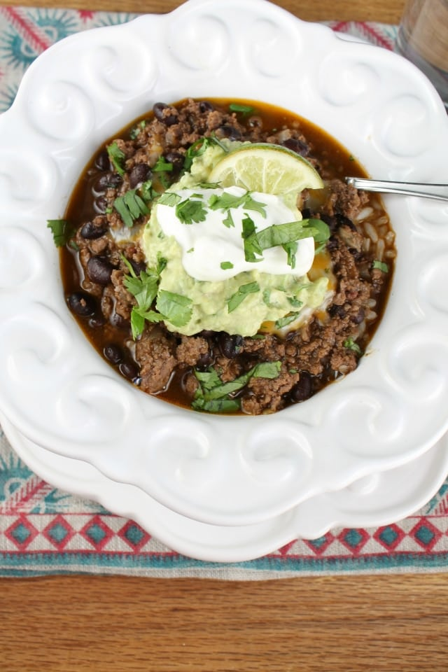 Easy Taco Chili Recipe from Miss in the Kitchen