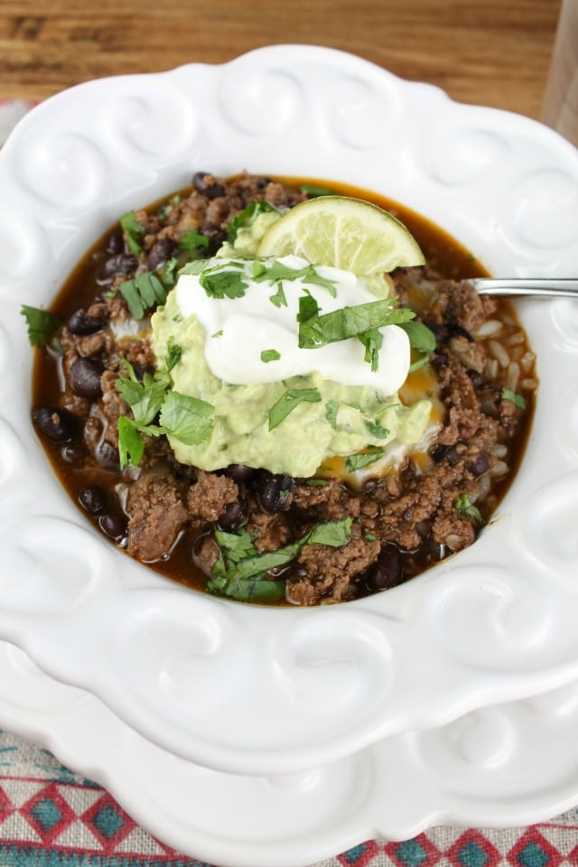 Easy Taco Chili www.missinthekitchen.com