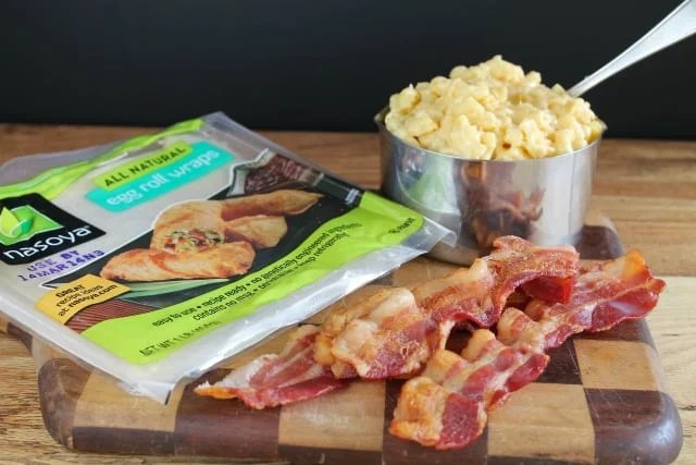 bacon macaroni and cheese egg roll wrappers