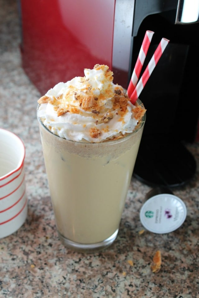 Double Shot Espresso Butterfinger Iced Latte from Miss in the Kitchen