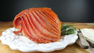 Maple, Dijon and Rosemary Glazed Ham