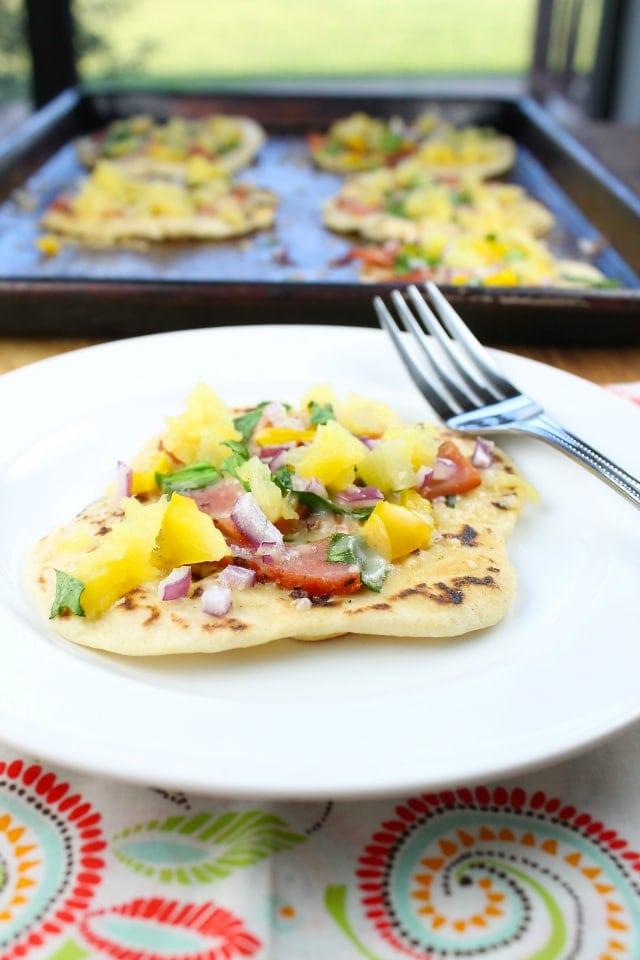 Hawaiian Ham Flatbreads |