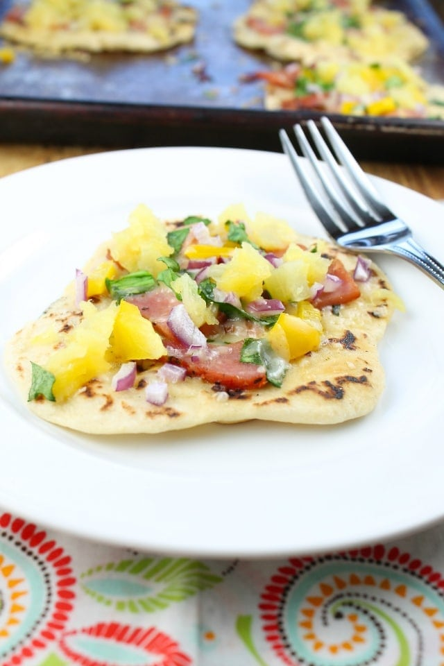 Hawaiian Ham Flatbreads from Miss in the Kitchen