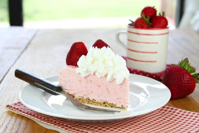 Strawberry Cheesecake Ice Cream Pie | Miss in the Kitchen