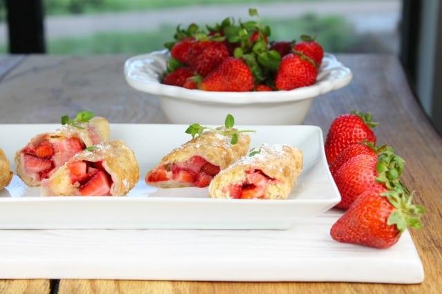 Strawberry Shortcake Egg Rolls