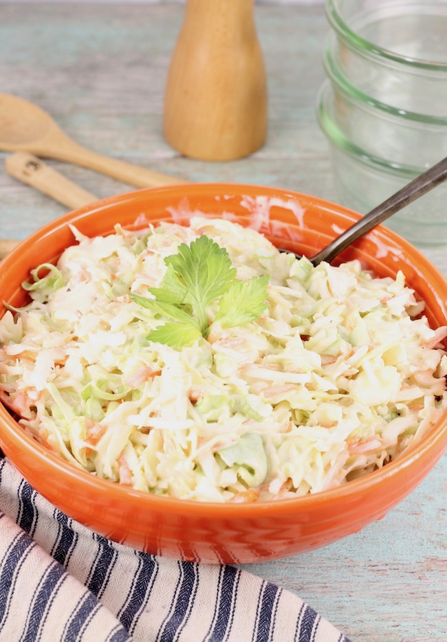 Creamy Coleslaw with easy homemade coleslaw dressing