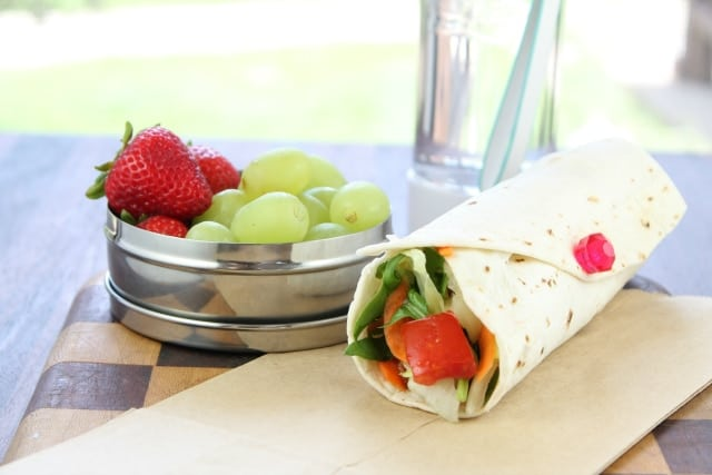 BLT Wraps with Strawberry Vinaigrette from Miss in the Kitchen