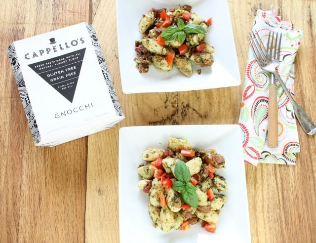 Cappello's Gnocchi with Bacon Tomato & Pesto Miss in the Kitchen