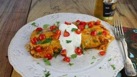 Epic Creamy Chicken Enchiladas