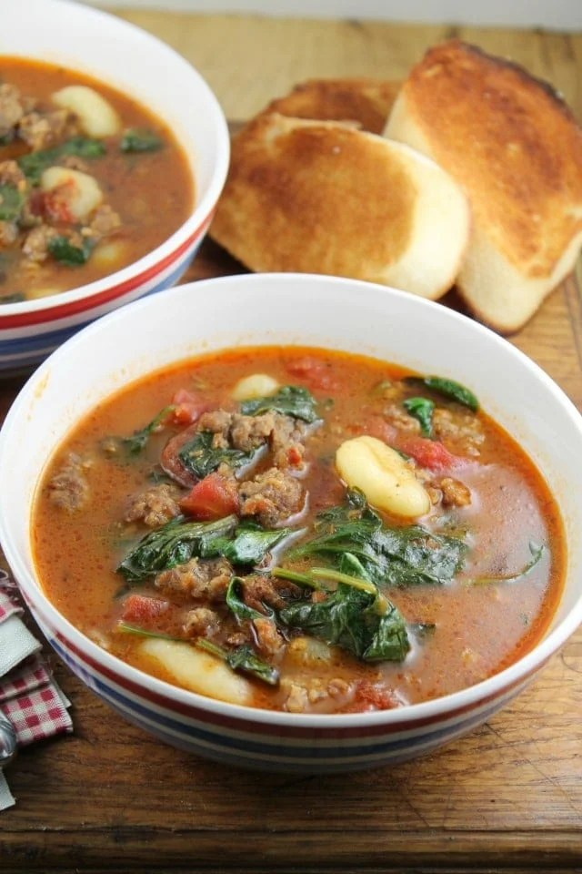 Italian Gnocchi Soup - missinthekitchen.com