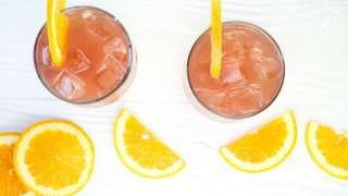 Orange Pomegranate Moscato Cocktail