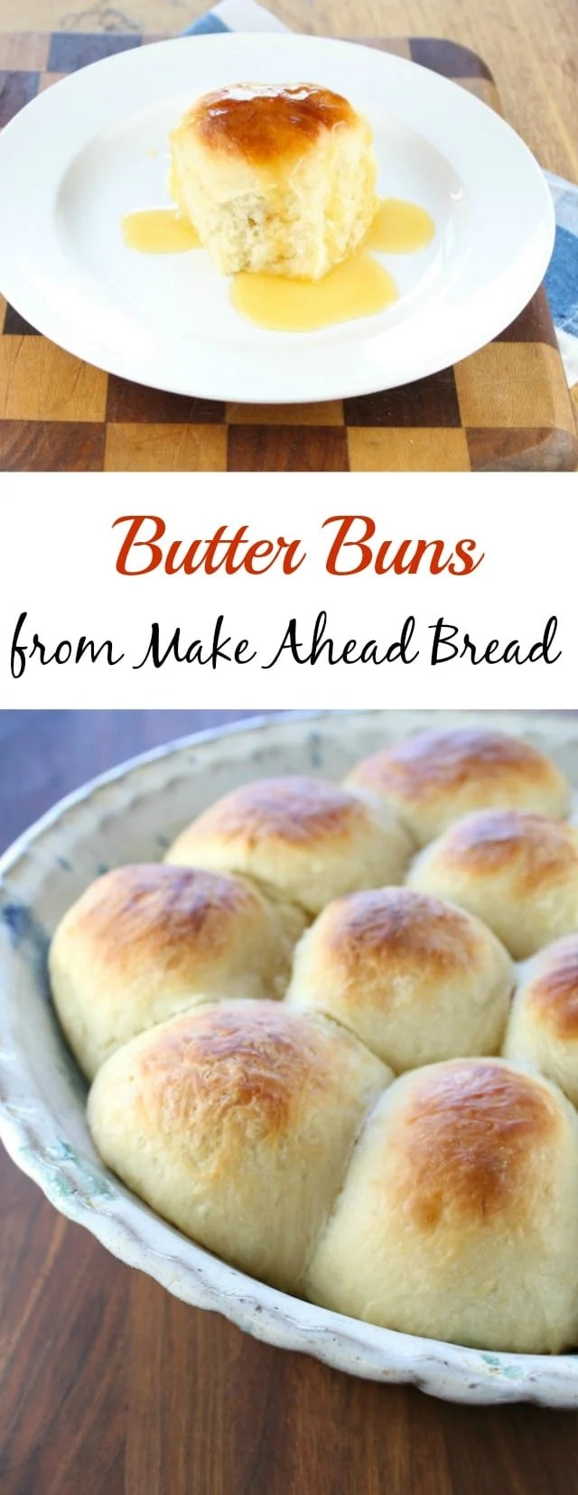 Butter Buns from Make Ahead Bread