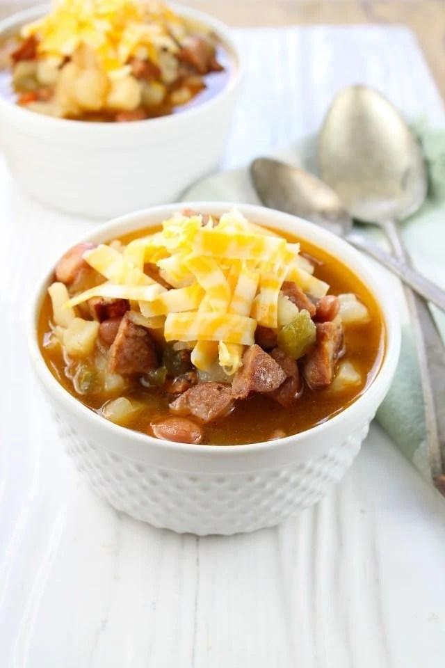 Chorizo and Potato Soup From missinthekitchen.com