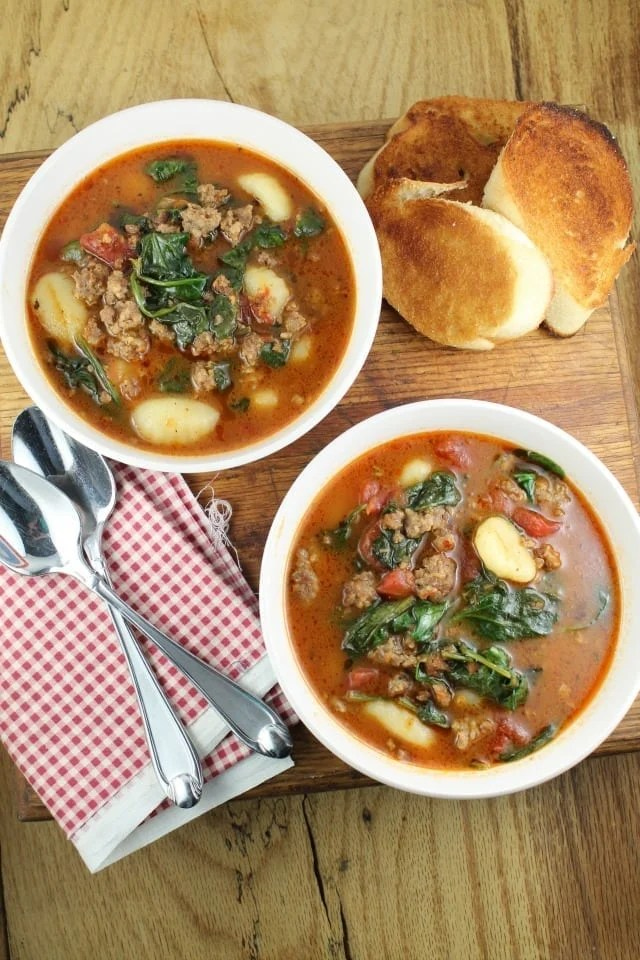 Italian Gnocchi Soup From missinthekitchen.com