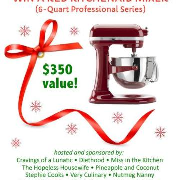 Christmas KitchenAid 6 Quart Professional Mixer Giveaway