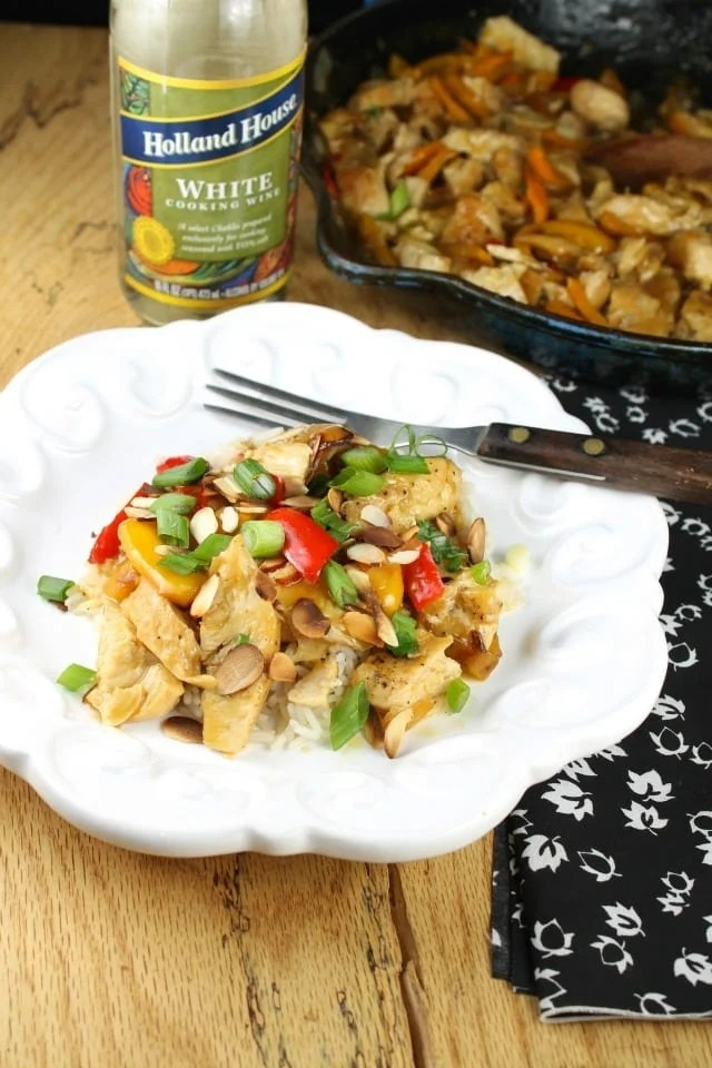Easy Orange Chicken Skillet Meal with Holland House Cooking WIne From Miss in the Kitchen