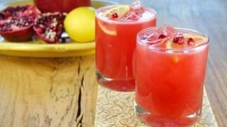 Sparkling Strawberry Pomegranate Cocktails