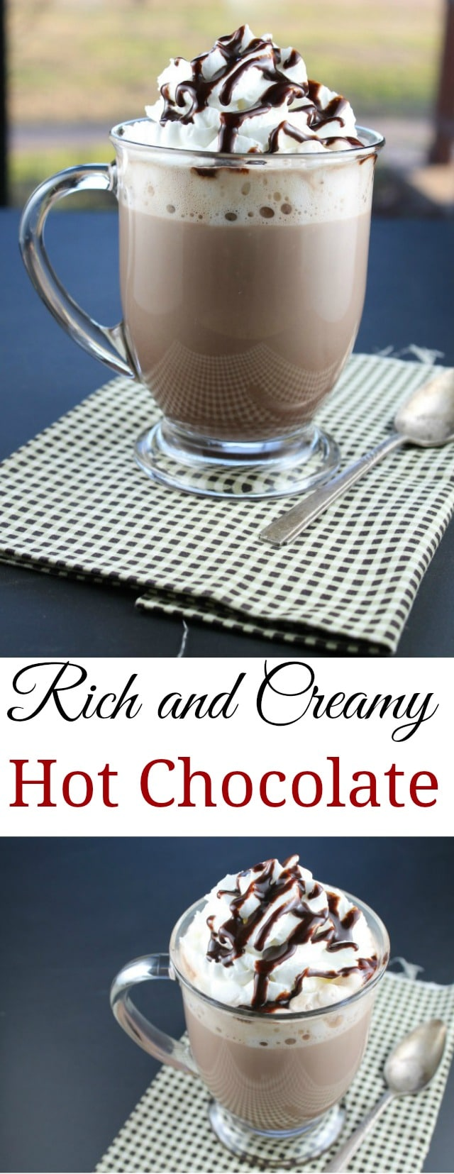 Rich and Creamy Hot Chocolate Recipe found at missinthekitchen.com