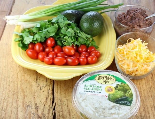ingredients for 7 Layer Mexican Dip
