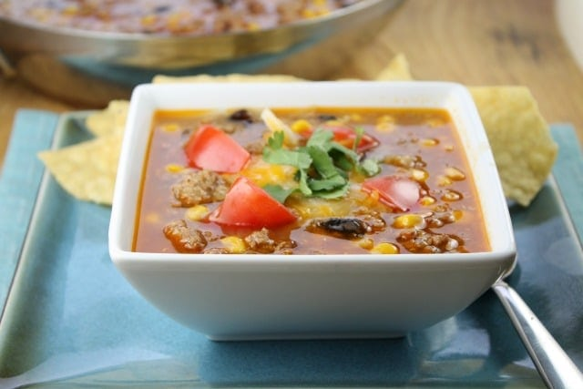 Easy Taco Soup from Miss in the Kitchen