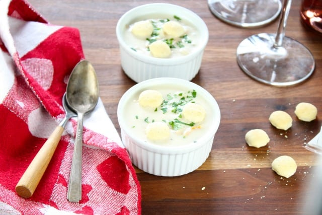 Lobster Anywhere Clam Chowder on Miss in the Kitchen
