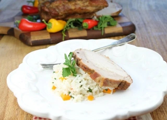 Apple Butter Braised Pork Loin from missinthekitchen
