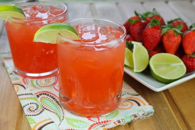 Strawberry Limeade Punch Recipe from Miss in the Kitchen