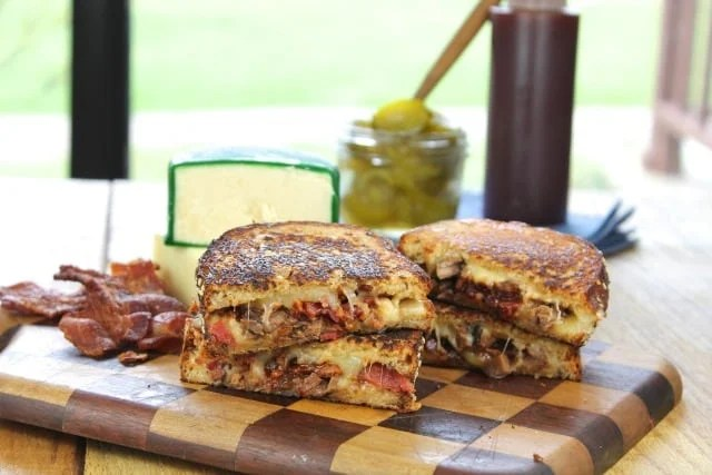 Barbecue Beef & Bacon Grilled Cheese from missinthekitchen.com