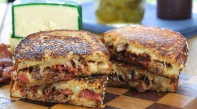 Barbecue Roast Beef & Bacon Grilled Cheese from Miss in the Kitchen