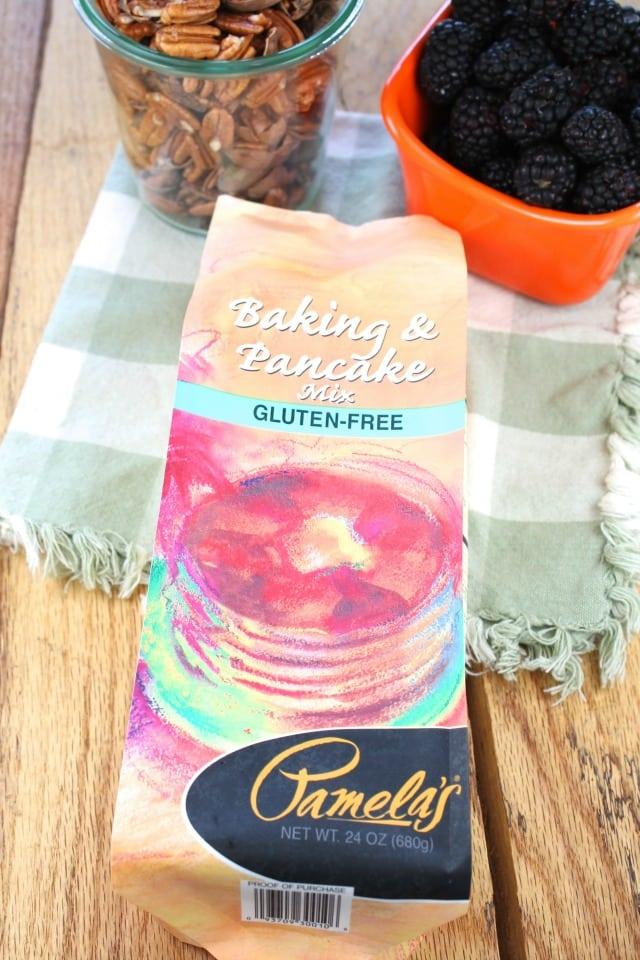 Pamela's Baking & Pancake Mix Gluten Free Blackberry Pecan Pancakes