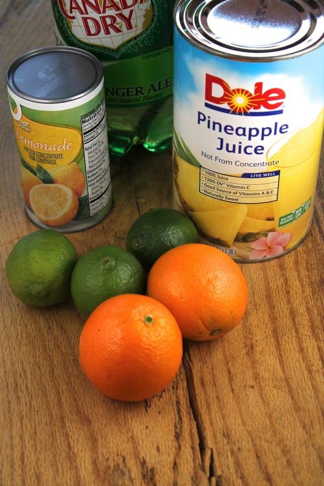 Ingredients Pineapple Punch  missinthekitchen