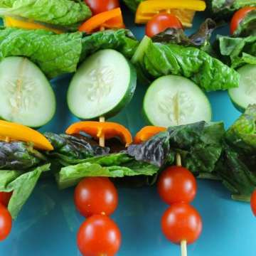 Salad Kebabs Recipe from missinthekitchen.com #ProgressiveEats